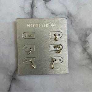 Nordstrom 6-Pack Stud & Hoop Earring Set